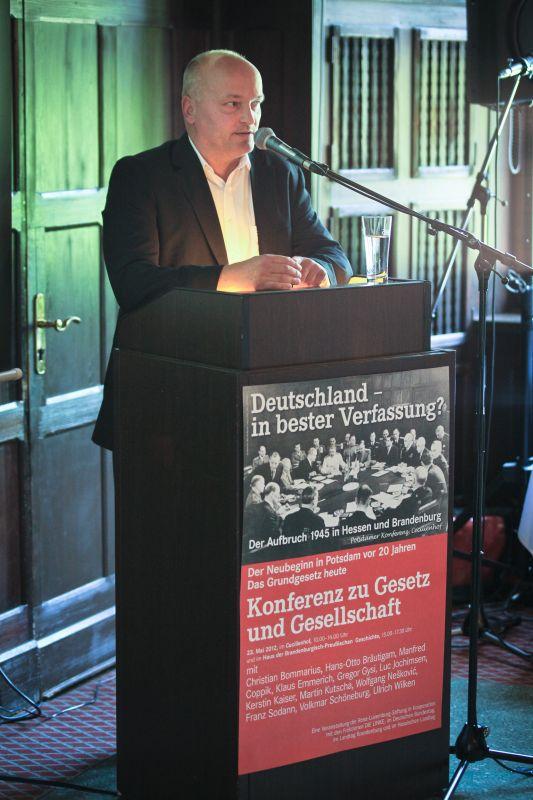 Dr. Volkmar Schöneburg, Justizminister im Land Brandenburg