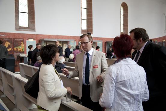Im Gespräch: Margot Käßmann, Bodo Ramelow, Walter Homolka und Birgit Klaubert (Foto: Yves Harmgart)