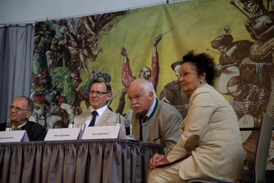 v.l.n.r.: Reinhard Höppner, Bodo Ramelow, Peter Gauweiler, Luc Jochimsen (Foto: Yves Harmgart)